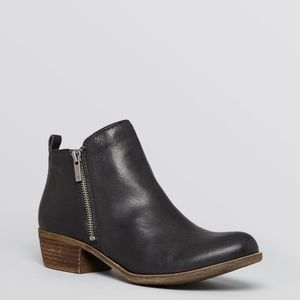 Lucky Brand Basel black leather ankle booties 9
